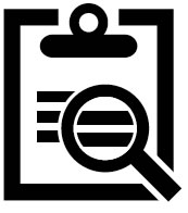 Icon: Magnifying glass on document